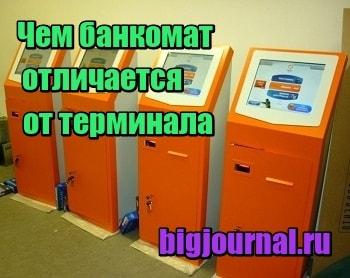 картинка Чем банкомат отличается от терминала