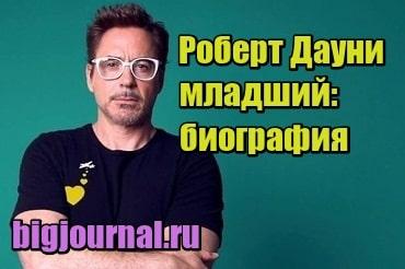миниатюра Роберт Дауни-младший: биография